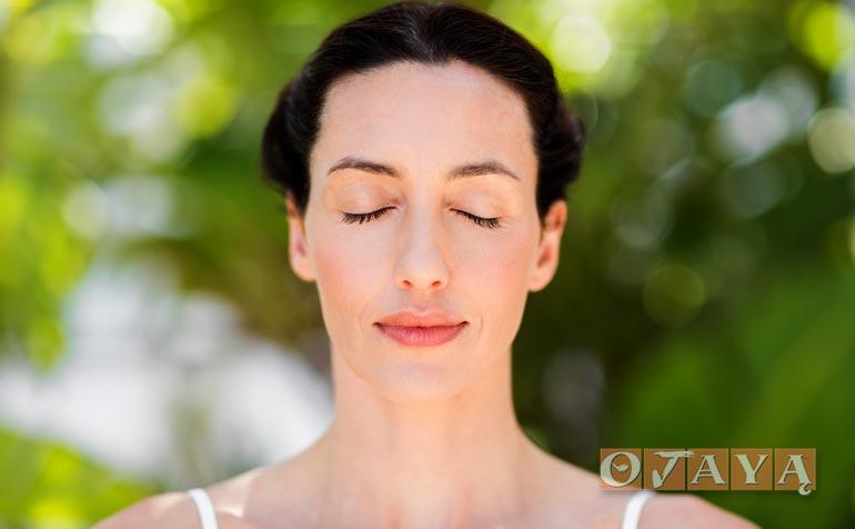Woman practicing OJAYA Pure Mindfulness