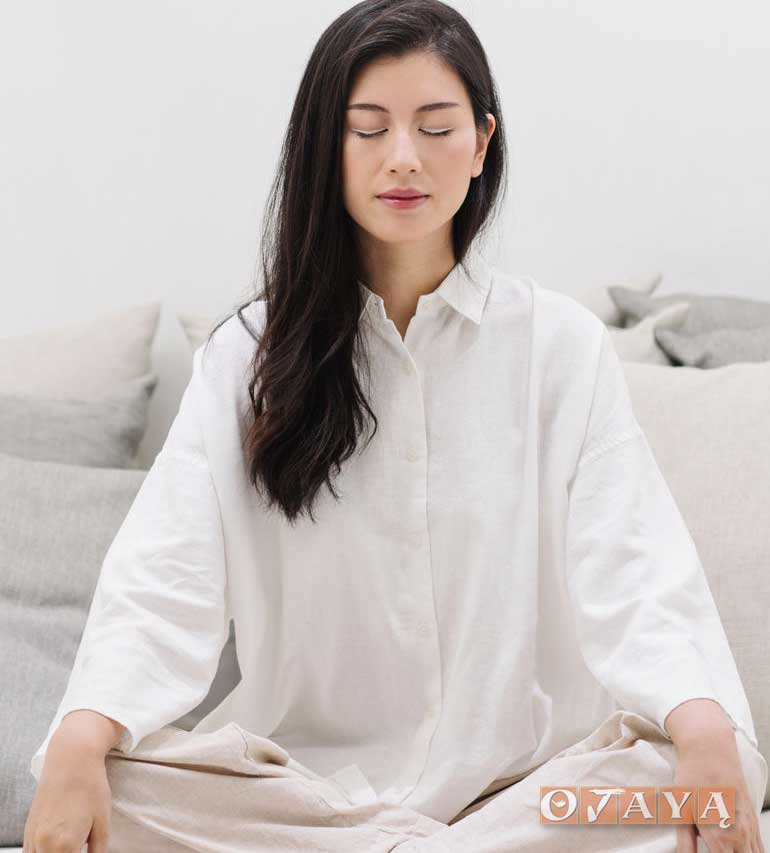 Woman in Blissful Mindfulness