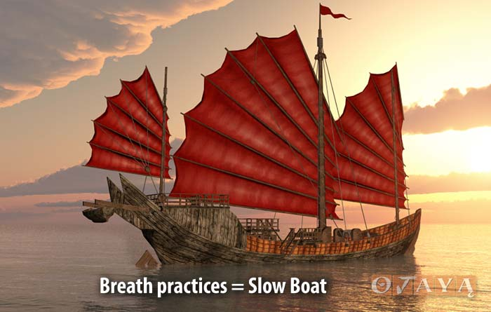 """Breath Meditation practices and """"watching the breath"""" are the """"slow boat"""""""